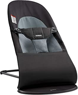 BABYBJ�RN Bouncer Balance Soft, Cotton, Black/Dark Gray