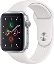Apple Watch Series 5 (GPS, 44mm) – Silver Aluminum Case with White Sport Band