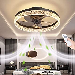 Indoor Ceiling Fan with Lights and Remote Control, Modern...