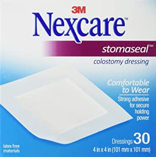 Nexcare Stomaseal Colostomy Dressing, 4in. x 4in. - 30 ea