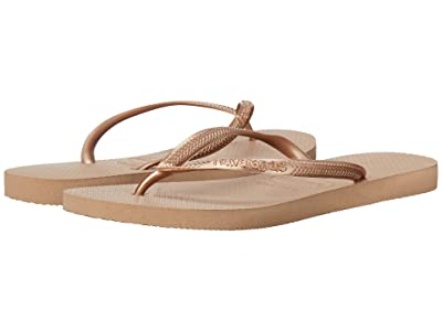 Havaianas Slim Flip Flops (Rose Gold) Women