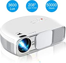 Video Projector, iBosi Cheng Home Theater Projector LCD Portable Projector 1080P Full HD Projector with 3600 Lux, 208