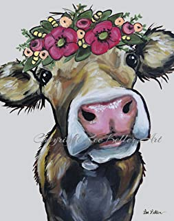 Cow Art Print, Hazel', Cow Gifts for Cow Lovers