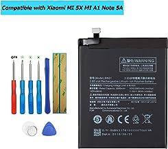 Upplus BN31 - Batería de Repuesto Compatible con Xiaomi MI 5X MI A1 Note 5A 3,85 V, 3000 mAh con Kit de Herramientas