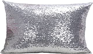 LivebyCare Multi-Size Glitter Sequin Throw Pillow Cover Sham Case Cushion Covers Pattern Zipper Pillowslip Pillowcase for Bed Room Sofa Couch Chair Back Seat