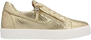 Luxury Fashion | Giuseppe Zanotti Design Men RU90017018 Gold Leather Sneakers | Spring-summer 20