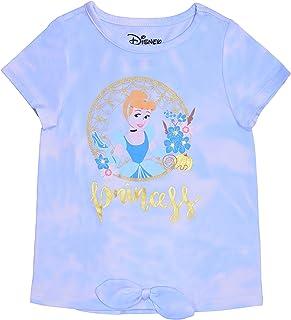 Disney Princess Girl's Cinderella Short Sleeves Tee Shirt for Kids
