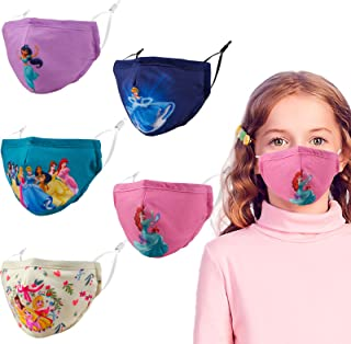 Kids 3D Reusable Breathable Washable Adjustable Cloth Face Masks, Gift for Boys Girls
