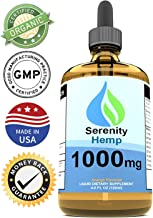 Serenity Hemp Oil - 4 fl oz 1000 mg Orange Flavored - Relief for Stress, Inflammation, Pain, Sleep, Anxiety, Depression, Nausea - Rich in Vitamin E, Vitamin B, Omega 3,6,9 and More!