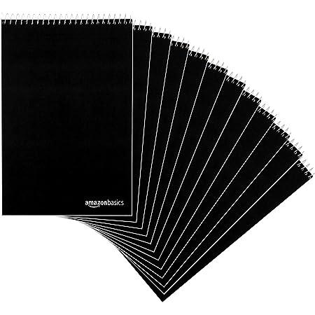 "Amazon Basics Steno Books, 6"" x 9"", Gregg Rule, Green Paper, 80 Sheets, 12-Pack"
