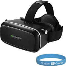 DMG VR Shinecon 3D Virtual Reality Google Cardboard Glasses Headset with Wristband