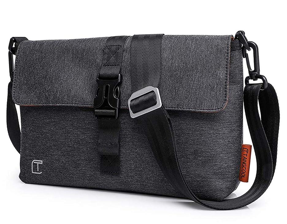 難民石の報復ショルダーバッグ サコッシュ メンズ ミニメッセジャーバッグ iPad対応 軽量 防水 カジュアルバッグ 斜め掛け 通勤 通学 ブラック