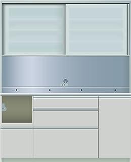 パモウナ 食器棚IE シルキーアッシュ 幅160×高さ198×奥行45 日本製 IEL-S1600R