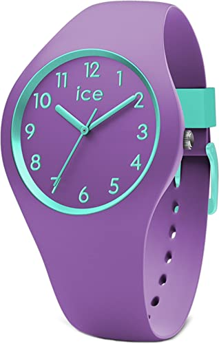 Ice-Watch - Ice Ola Kids Mermaid - Montre Violette pour Fille avec Bracelet en Silicone - 014432 (Small)
