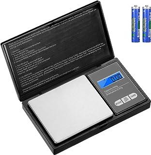 Aurora & Tithonus Précision 500g / 0.01g, Balance de Cuisine en Acier Inoxydable avec écran LCD, pour Peser des Herbes, de...