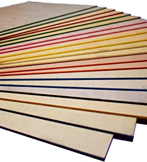 XLNT 20 Pieces & 10 Colors Engraving Colored Acrylic Sheet Plastic Sheet 12