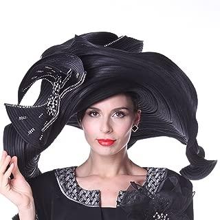 Women Hats Church Hats Exaggeration Designer Fashion Lady Wide Brim Hats