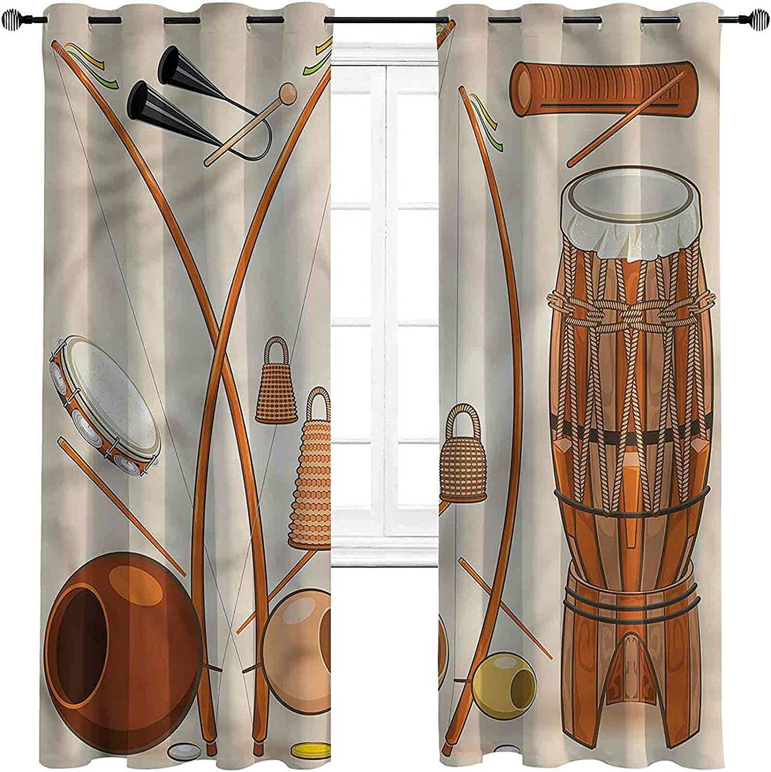Music Large-scale sale Shading Cheap sale Insulated Curtain Capoeira for Tribal Brazilian