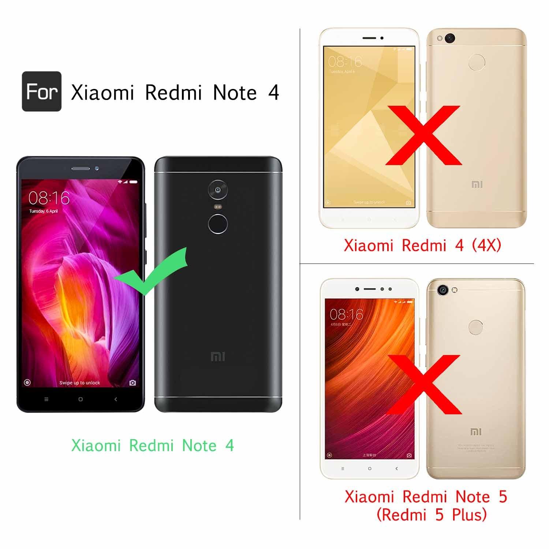 LeYi Funda Xiaomi Redmi Note 4 / 4X Silicona Purpurina Carcasa con ...