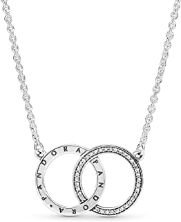 Pandora Women Silver Pendant Necklace - 396235CZ-45