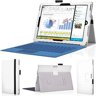 wisers 保護フィルム・OTGケーブル・タッチペン付 Microsoft Surface Pro 3 専用 上質 ケース カバー ホワイト