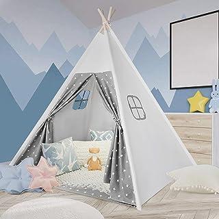Tacobear Tipi tält för barn Tippi barntält lektält prinsessa slott bärbart fällbart lektält barntält barnrum lekhus indian...