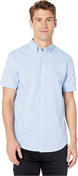 Short Sleeve Seagulls Print Shirt