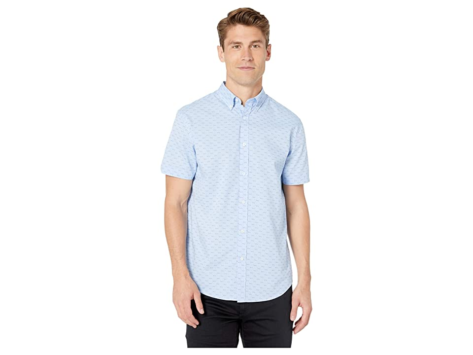 Ben Sherman Short Sleeve Seagulls Print Shirt (Blue) Men's Clothing