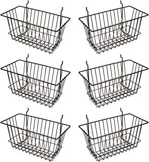 wire basket with hooks 12x24 3 slot