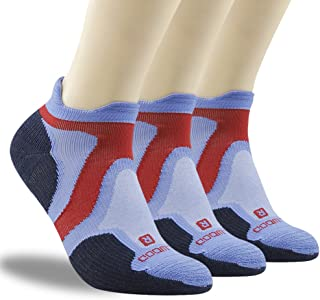 ZEALWOOD Unisex No Show Athletic Socks, Merino Wool/Bamboo Ultra-Light Running Tennis Golf Socks 1/3 Pairs
