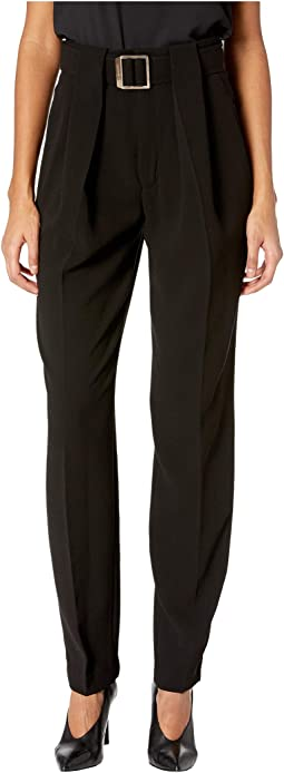 Belt Loop Pleated Pants