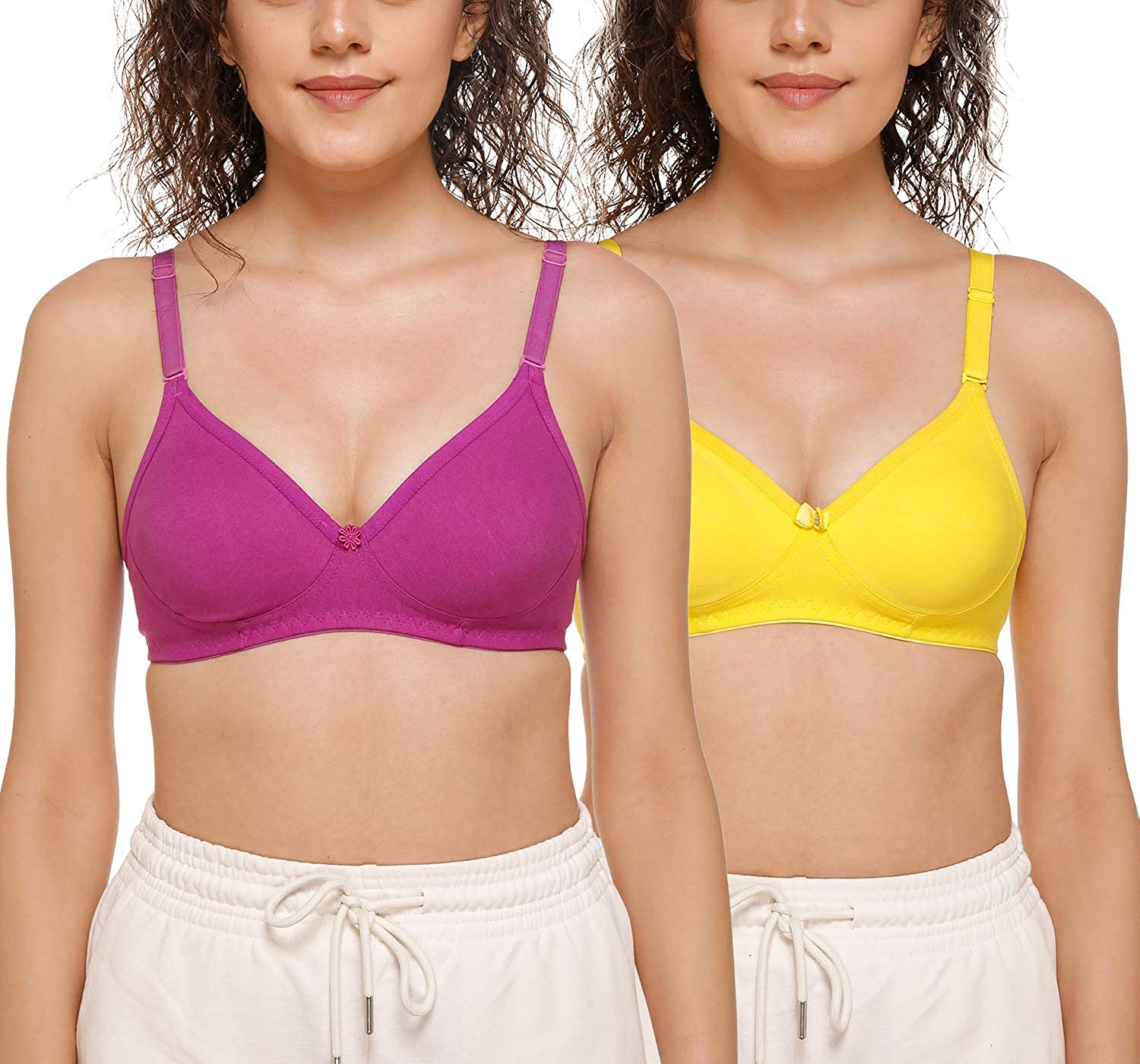 SONA Women's Hosiery Cotton M1001 T-Shirt Some reservation Non-Padded Assort Bra Tampa Mall