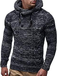 Men's Knitwear Coat,Mens Autumn Winter Pullover Knitted Cardigan Coat Hooded Sweater Jacket Outwear