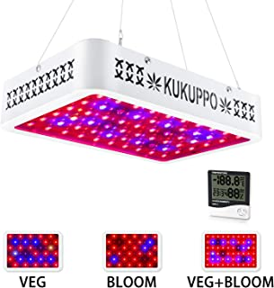 LED Grow Light, 600W LED Plant Lamp Light Full Spectrum with UV&IR for Indoor Plants, Plant Light with Veg and Bloom Switch, Growing Lamp w/t Daisy Chain Function for Greenhouse, Hydroponics, Seedling