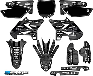 Senge Graphics kit compatible with Yamaha UFO RESTYLED 2005-2007 YZ 125/250 (2-Stroke), Apache Grey Complete Graphics Kit