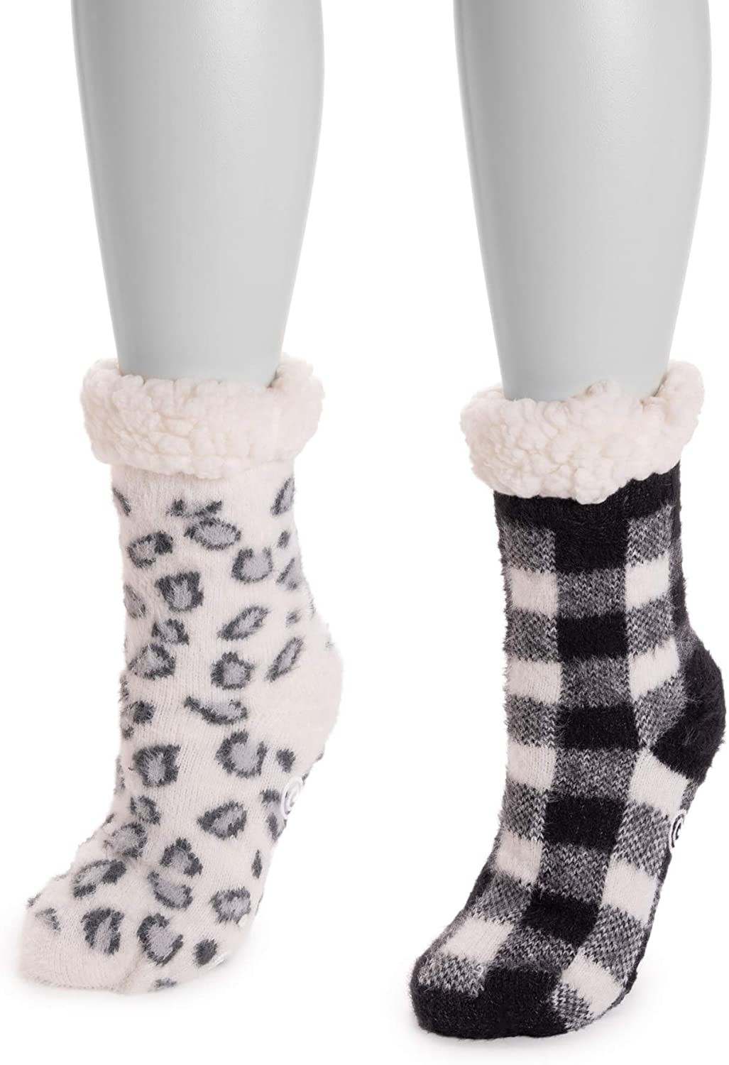 Sale special price Muk Luks Cabin Cozy Sock 2 Ivory S Black M and Pair Regular store