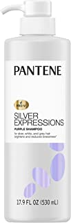 Sponsored Ad - Pantene Silver Expressions, Purple Shampoo and Hair Toner, Pro-V for Grey and Color Treated Hair, Lotus Flo...