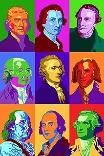 Founding Fathers - Pop Art (12x18 Art Print, Wall Decor Travel Poster)
