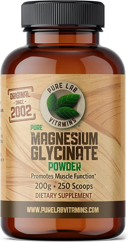 Pure Lab Vitamins Magnesium Glycinate g Vegan - 200 Sales for sale Some reservation Powder
