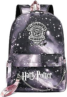 Mochila de Ocio para Estudiantes de Hogwarts, Mochila Harry Potter Grey Starry Sky, con Mochila de Interfaz de Carga USB style-14