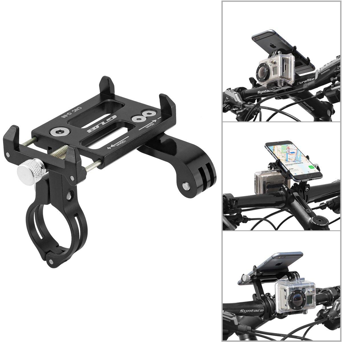 GUB Universal de la Bici de la Bicicleta de la motocicleta de soporte para el teléfono móvil, Smartphone, Navi, etc. con mount para GoPro, AcrionCam, Cámaras de acción...: Amazon.es: Electrónica