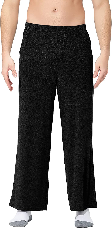 Lu's Chic Men's Cotton Pajama Pants Long Pj Pant Lounge Bottoms Loungewear Soft Stretch Casual