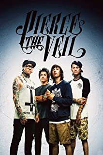 NewBrightBase Pierce The Veil-Post Hardcore Band Fabric Cloth Rolled Wall Poster Print - Size: (20
