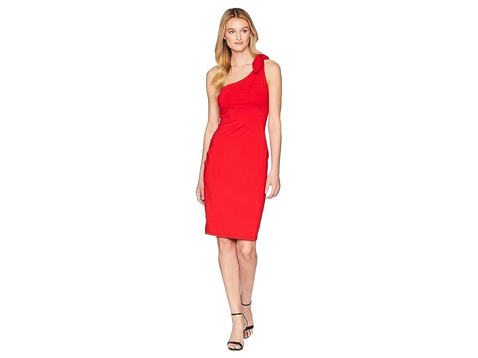 Susana Monaco Bonnie Tie Shoulder Dress (Perfect Red) Women