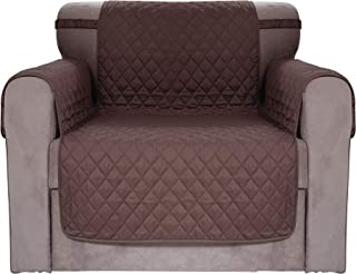 Chiara Rose Waterproof Couch Covers for Dogs Sofa Cushion Slipcover 1 Seater Furniture Protectors, Armchair, Brown