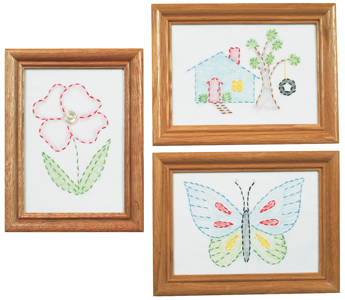 WHITE CaptainCrafts Hot New Cross Stitch Kits Needlecrafts Patterns Counted Embroidery Kit Birds Twitter And Fragrance Of Flowers