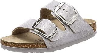 Birkenstock Arizona Big Buckle Washed Metallic Blue Silver Sandal