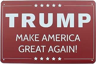 K&H President Trump Make America Great Metal Tin Sign Posters Wall Decor 12X8-Inch (Trump)