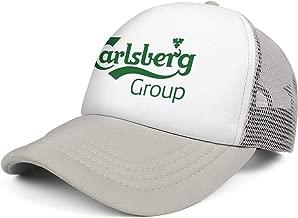 QWQD Carlsberg Export Logo Mens Women Mesh Hip Hop Cap Adjustable Snapback Summer Hat