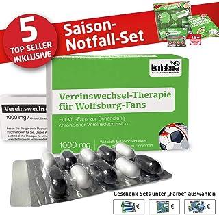 """Vereinswechsel-Therapie für Wolfsburg-Fans   Lakritz-Schmerztabletten für VFL-Fans mit chronischen Vereinsdepressionen   Wähle gemein witzige Geschenk-Sets über """"Farbe"""""""